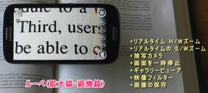 老眼鏡アプリ(拡大鏡・顕微鏡)