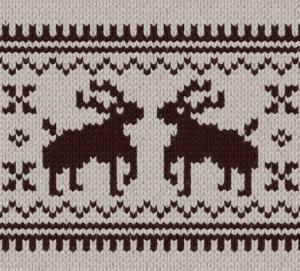 カウチンセーター鹿