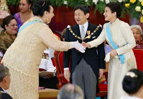 皇太子ご夫妻がトンガ国王を訪問