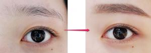 キムナヒのメイク方法眉毛の完成