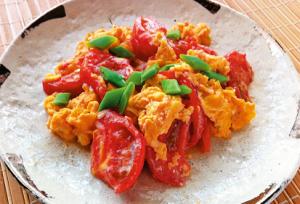 美肌レシピ、トマトと卵の炒めもの