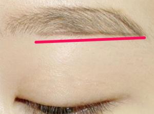 つり目、メイク眉毛の書き方