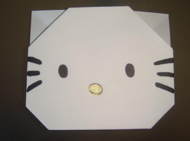 キティちゃん折り紙の折り方-11