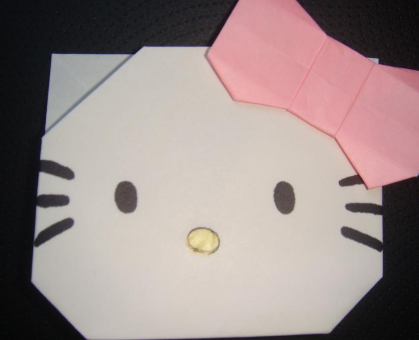 キティちゃん折り紙の折り方