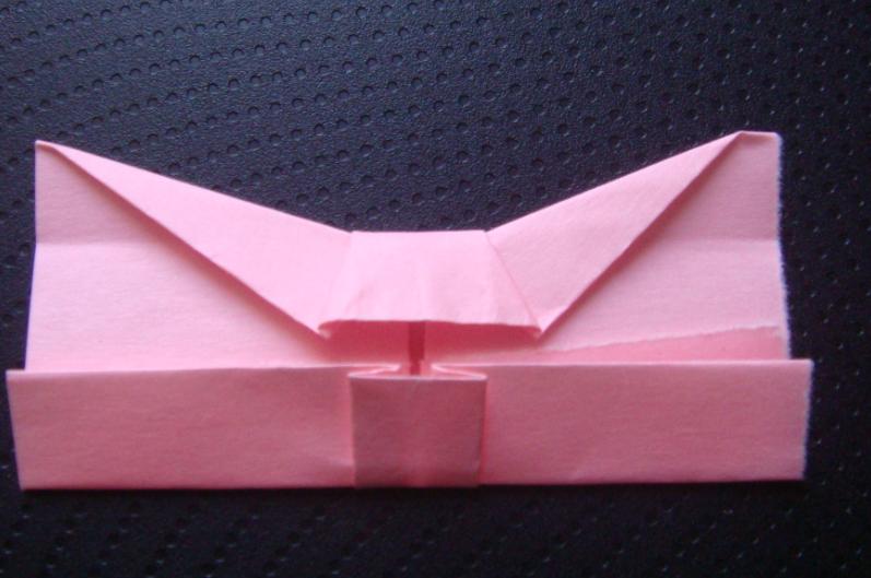 キティちゃん折り紙リボンの折り方-11