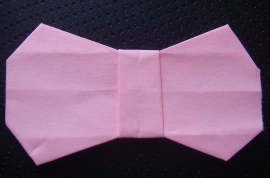 キティちゃん折り紙リボンの折り方-13