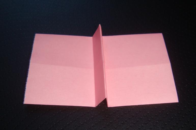 キティちゃん折り紙リボンの折り方-5