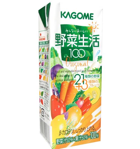 カゴメの野菜ジュース「カゴメ野菜生活100」