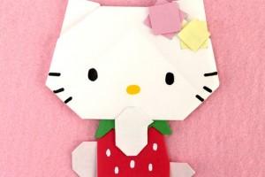 キティちゃんの折り紙