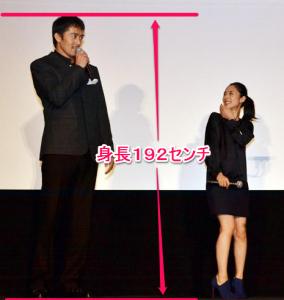 阿部寛の身長は192センチ