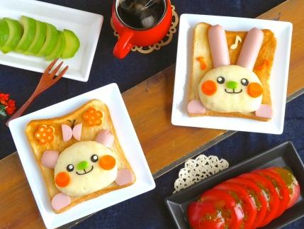 お花トーストの別アレンジレシピ