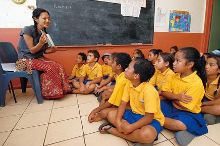 海外青年協力隊で働く女性