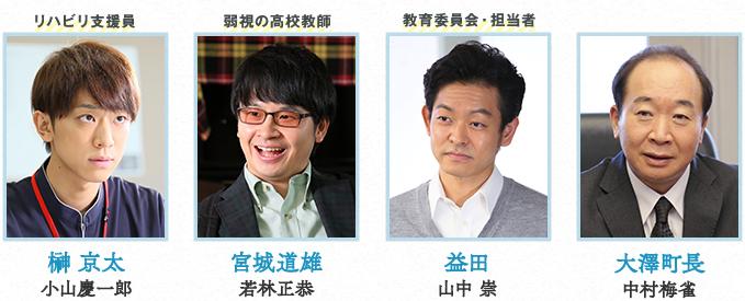 盲目のヨシノリ先生ドラマの相関図-1