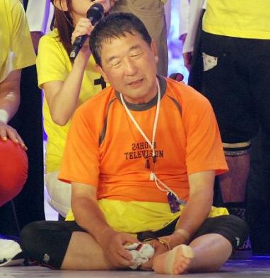 24時間マラソンを走り終えた徳光和夫