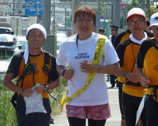 24時間マラソンを走る北斗晶