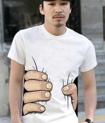 見た目が痩せて見えるTシャツ